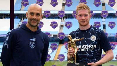 Kevin De Bruyne hailed by Pep Guardiola as best midfielder in the world