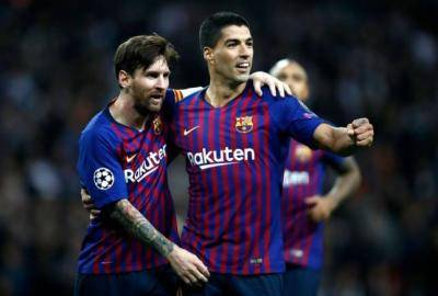 Lionel Messi meledakkan Barcelona setelah Luis Suarez keluar