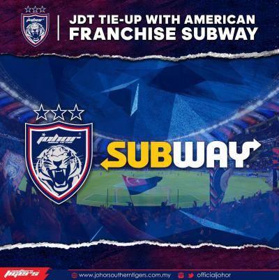 JDT jalin kerjasama rasmi dengan Subway