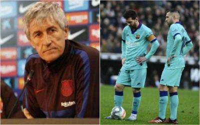 'You know where the door is' – Setien to Messi