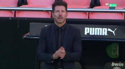 Atletico's Simeone berates players and himself after derby defeat
