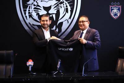 JDT umum kerjasama rasmi dengan UNICEF
