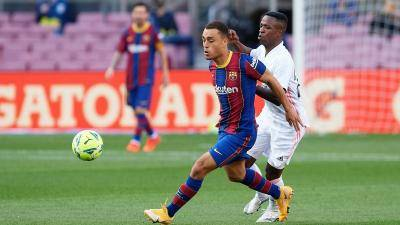 Barcelona's Sergiño Dest scored his first international goal for USA in Thursday's friendly 4-1 win over Jamaica.