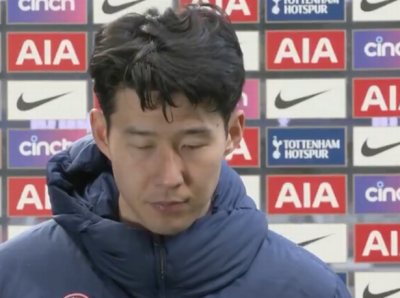 Heung-Min Son teary-eyed in emotional interview after Man Utd loss