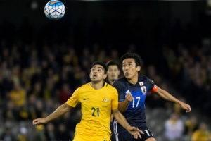 ทีมที่สี่! ญี่ปุ่นอัดออสเตรเลีย 2-0 คว้าสิทธิ์ลุยบอลโลกรัสเซีย
