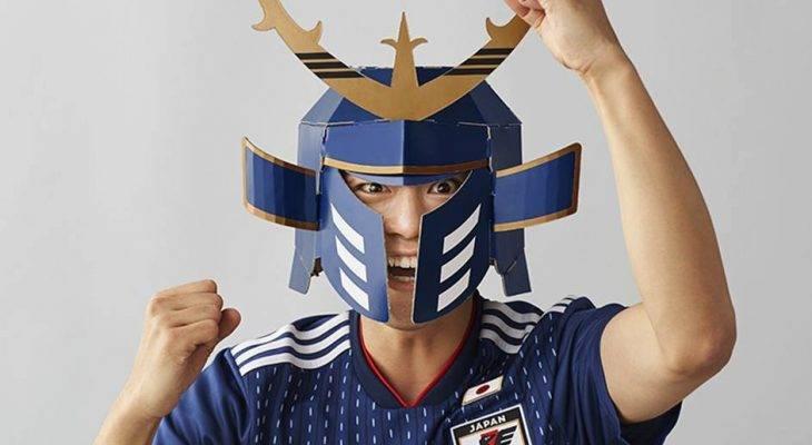 Box set แปลงร่าง! กล่องเสื้อทีมชาติญี่ปุ่นพับเป็นหมวกซามูไรใส่เชียร์