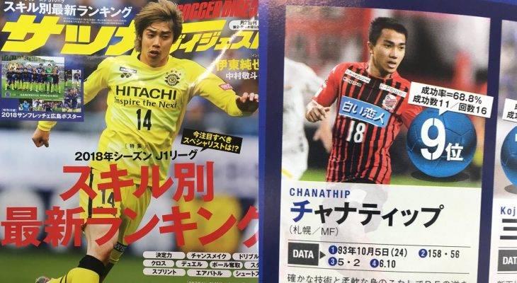 ชนาธิปติดโผ! นิตยสารญี่ปุ่นจัดอันดับ 10 แข้งจอมทักษะเจลีก