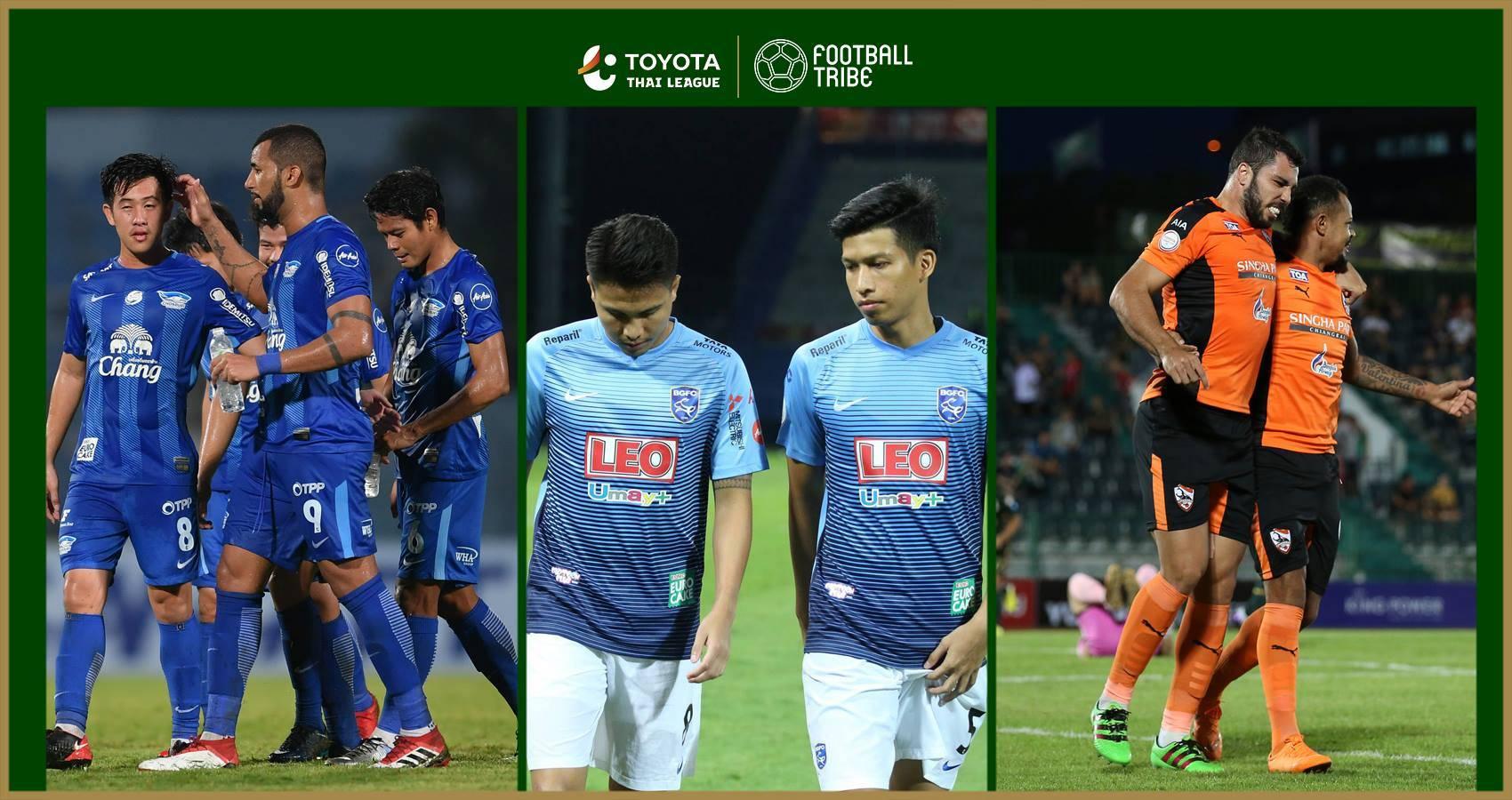 ยักษ์ลำบาก: 5 บิ๊กทีมผลงานน่าผิดหวังโตโยต้า ไทยลีก 2018