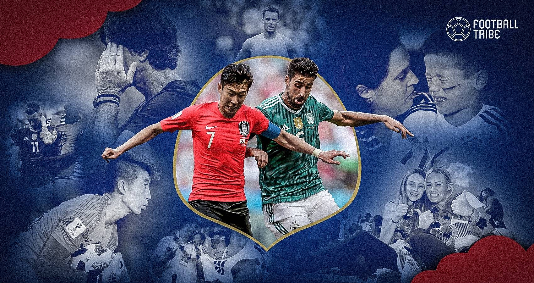 น้ำตาแชมป์เก่า : ประมวลภาพเกมเยอรมันพลิกพ่ายเกาหลีใต้ร่วงบอลโลก