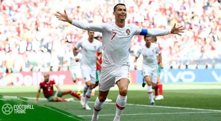 ทำลายมันให้หมด: 10 สถิติ 'คริสเตียโน โรนัลโด' จารึกแบ่งกลุ่มฟุตบอลโลก 2018