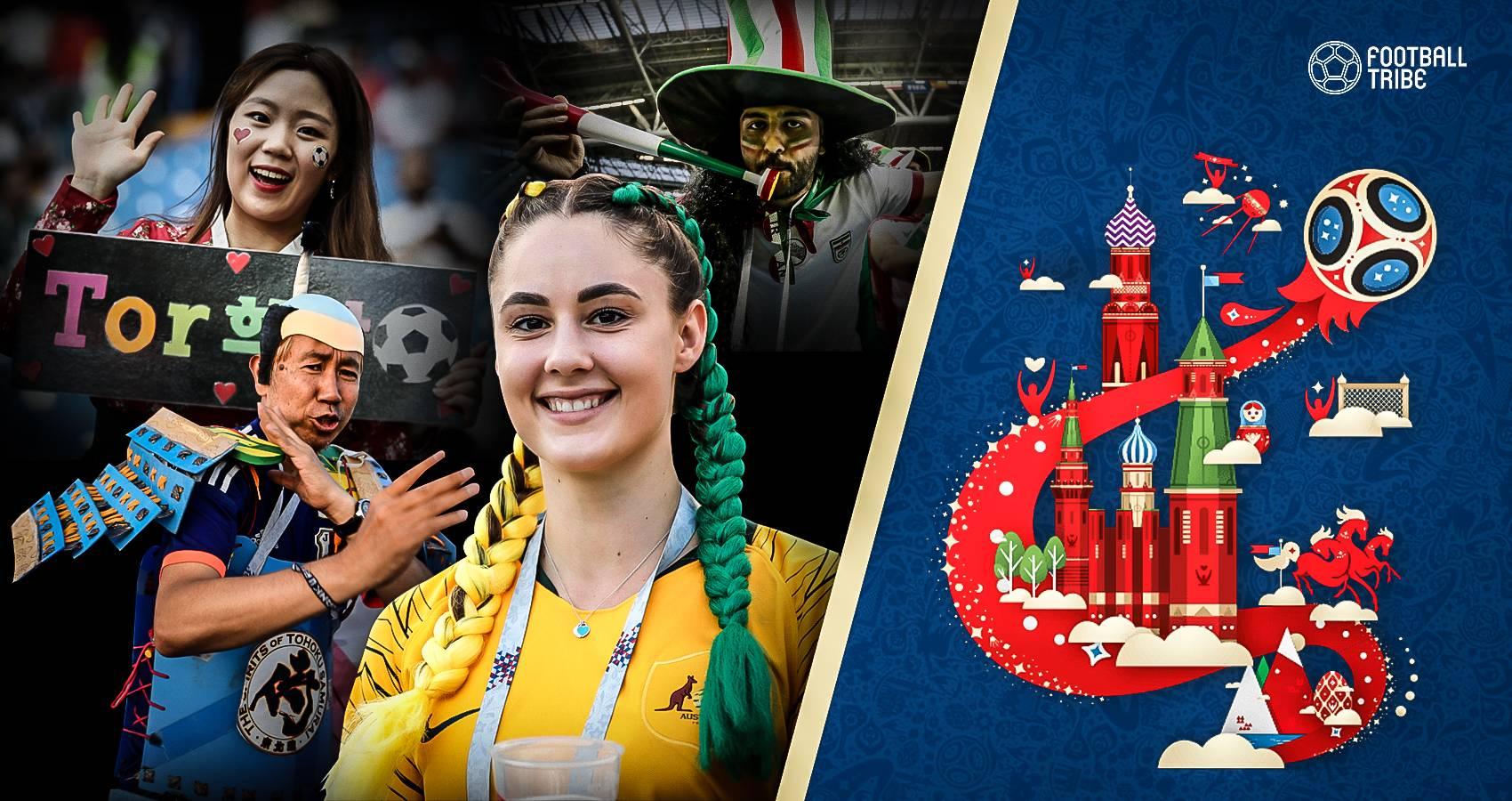 สู่สายตาชาวโลก : รวมภาพแฟนบอลเอเชียสร้างสีสันในเวิร์ลคัพ 2018