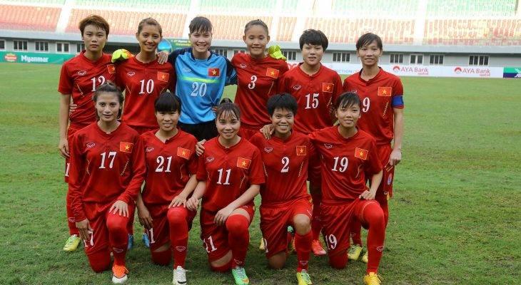 Tuyển nữ Việt Nam đá vòng loại Asian Cup nữ 2018 tại Hà Nội