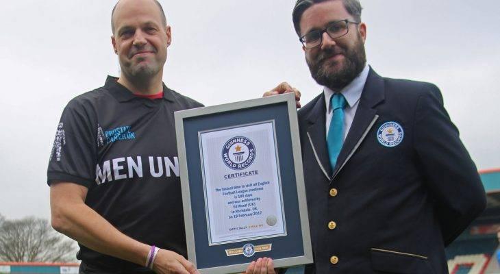 Đi qua 93 sân bóng khắp nước Anh, cổ động viên Derby lập kỷ lục thế giới
