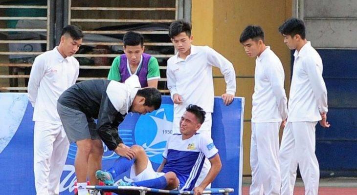 Tuyển thủ U20 Việt Nam chấn thương ở Cúp Quốc gia