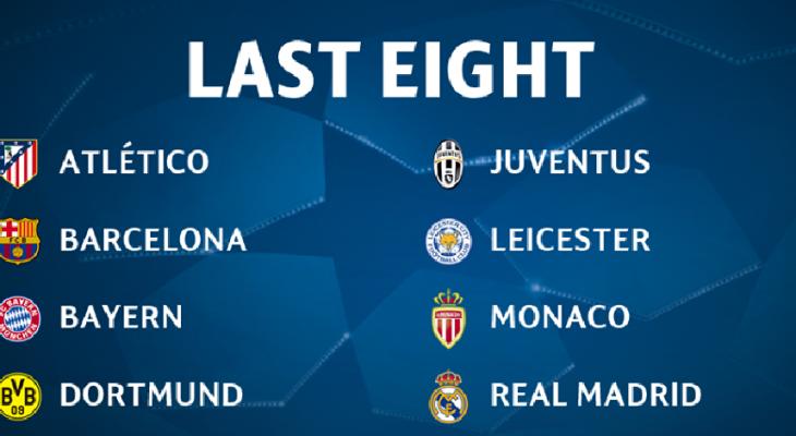 Điểm mặt 8 đội lọt vào tứ kết UEFA Champions League