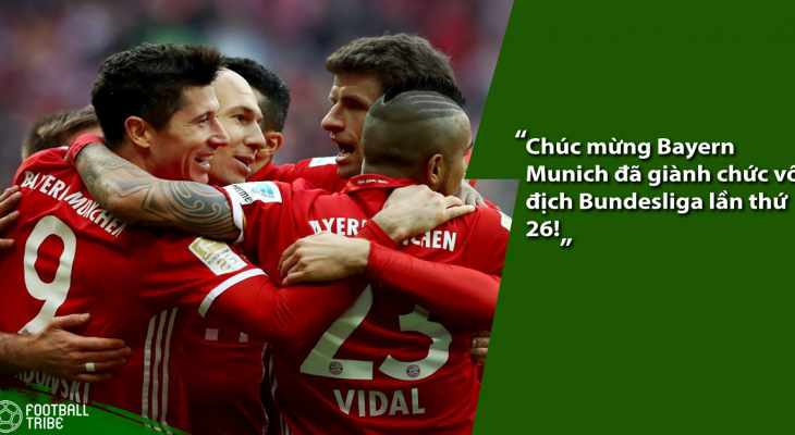 Bayern Munich có chức vô địch Bundesliga thứ 5 liên tiếp