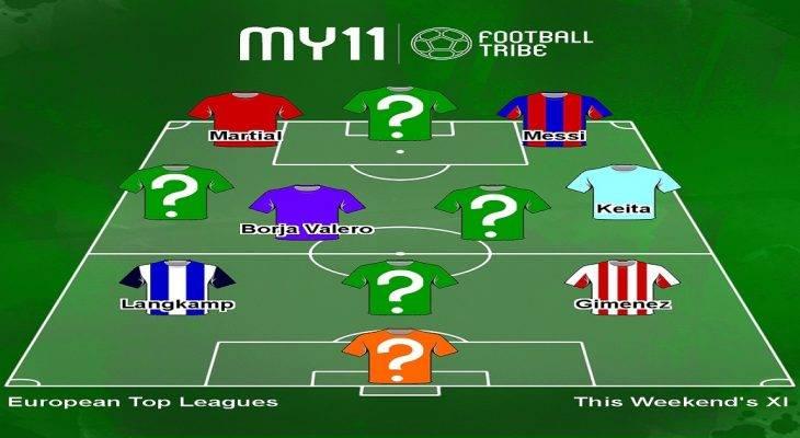 Đội hình tiêu biểu châu Âu cuối tuần qua: Gọi tên Messi, Martial