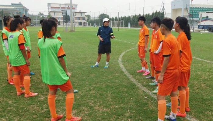 ĐT U15 nữ Quốc gia tập trung chuẩn bị cho giải U15 nữ Đông Nam Á 2019