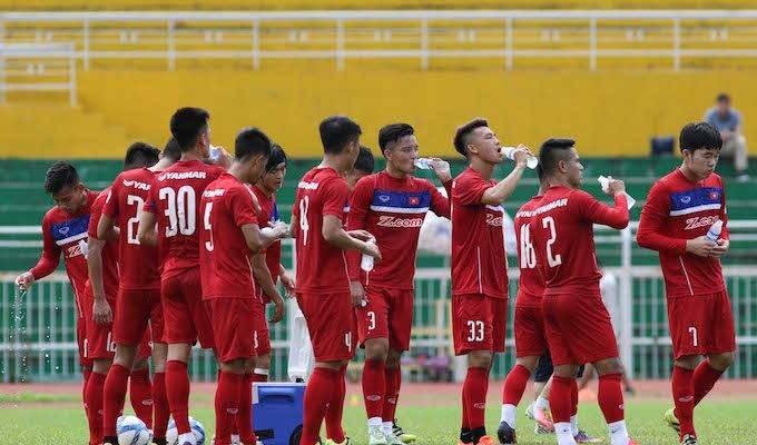 Đội tuyển Việt Nam tập buổi đầu tiên tại TP.HCM