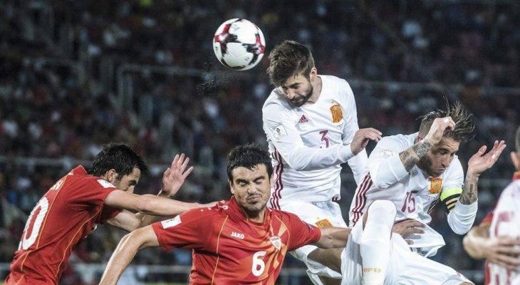 Macedonia 1-2 Tây Ban Nha: Chiến thắng không dễ dàng