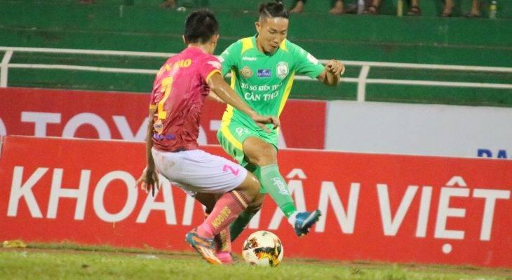 Sài Gòn FC nghẹt thở đánh bại XSKT.Cần Thơ