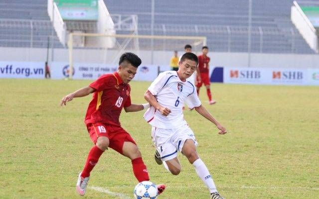 U15 Đài Bắc Trung Hoa gây bất ngờ trước U15 Myanmar