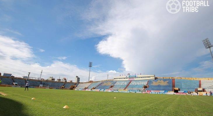 CLB Nam Định tập luyện dưới trời nắng gắt, quyết giành vé lên V.League