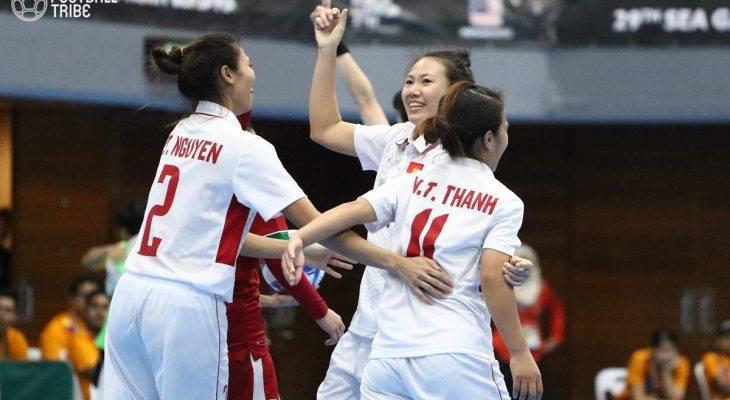 ĐT Futsal nữ Việt Nam chính thức giành HCB SEA Games 29