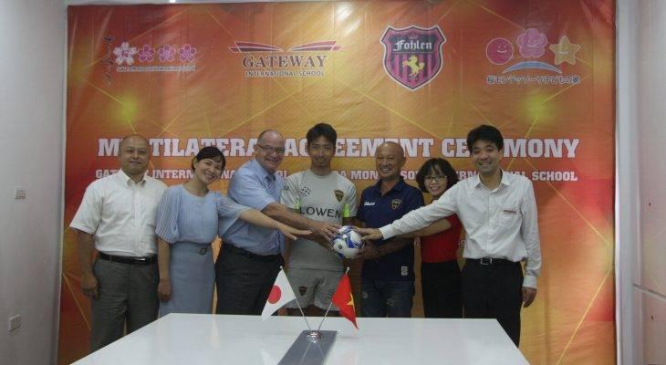Trường phổ thông liên cấp quốc tế Gateway hợp tác với Fohlen Japanese Football Academy
