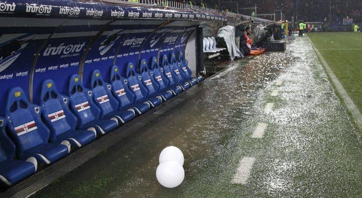 Trận đấu ở Serie A bị hoãn vì thời tiết xấu