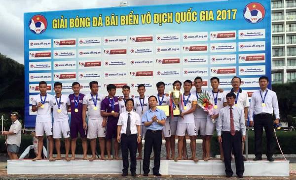 Đà Nẵng vô địch giải bóng đá bãi biển VĐQG 2017