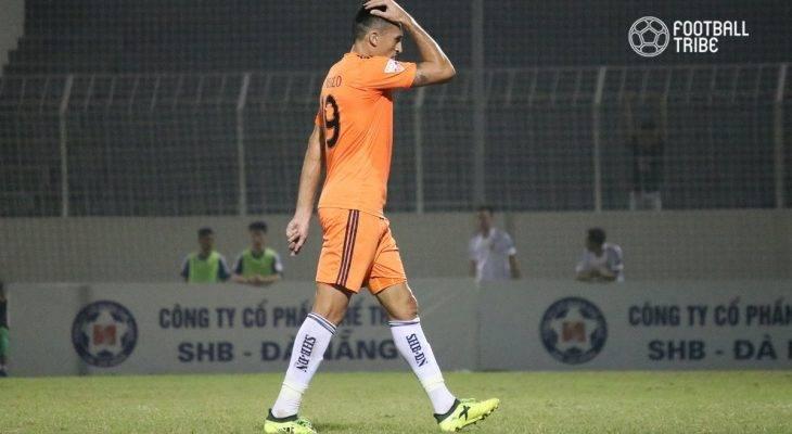 Merlo nhận thẻ đỏ, SHB Đà Nẵng thúc thủ trước Quảng Nam