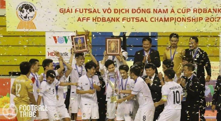 Thắng kịch tính Malaysia, Thái Lan vô địch Futsal Đông Nam Á