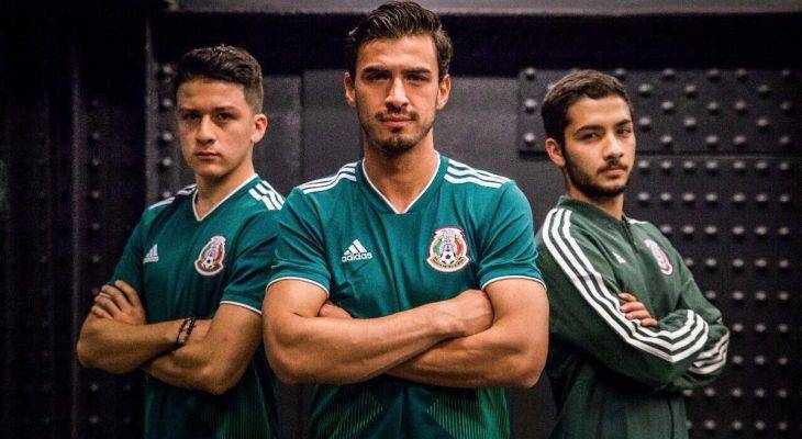 Chùm ảnh: Chiêm ngưỡng mẫu áo thi đấu của Mexico tại World Cup 2018