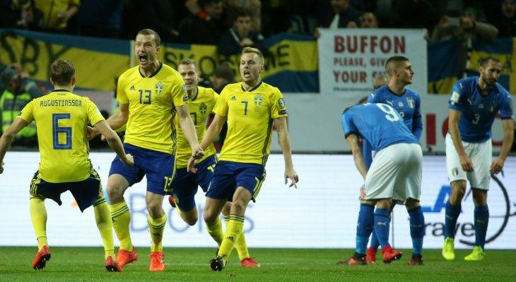Chùm ảnh: Thuỵ Điển 1-0 Italia