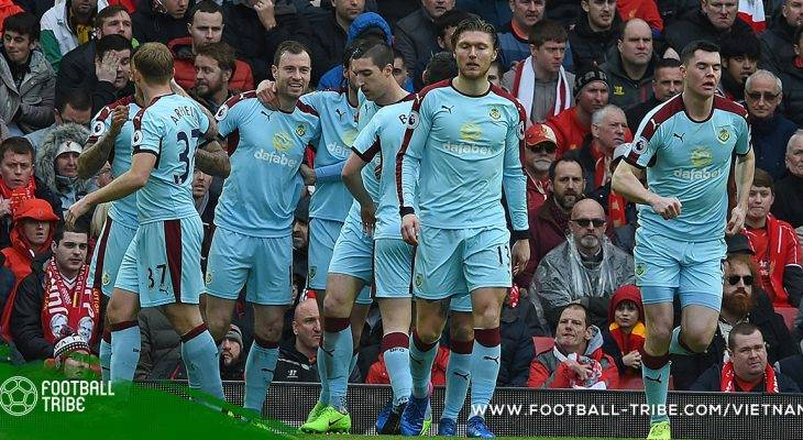 Premier League: Burnley vào TOP 4