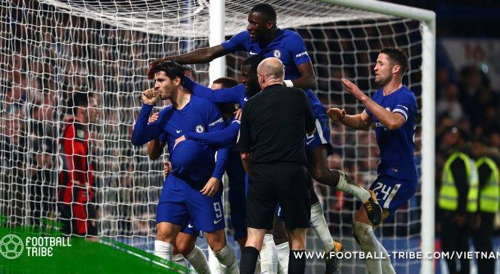 "Carabao Cup: Morata ""giải cứu"" Chelsea ở tứ kết"