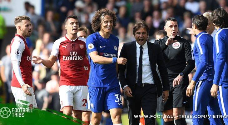 Conte phủ nhận mâu thuẫn với David Luiz