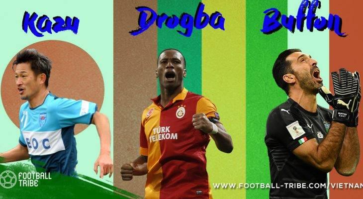 """Gianluigi Buffon và những """"ông già gân"""" của bóng đá thế giới"""