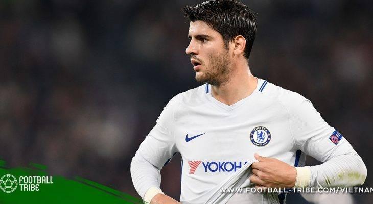 Morata vắng mắt trong trận đấu với Huddersfield