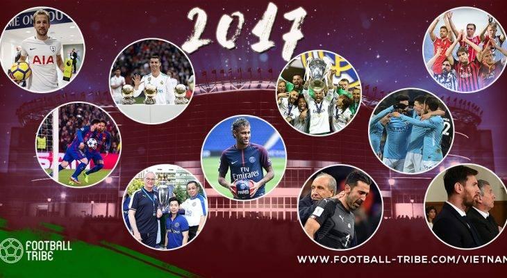 Nhìn lại những sự kiện bóng đá nổi bật trong năm 2017