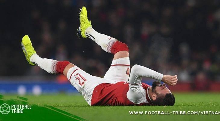 Giroud có nguy cơ lỡ trận gặp Liverpool