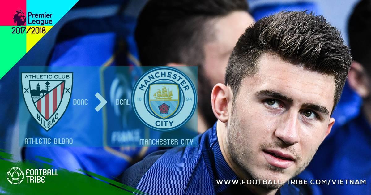 CHÍNH THỨC: Aymeric Laporte gia nhập Manchester City