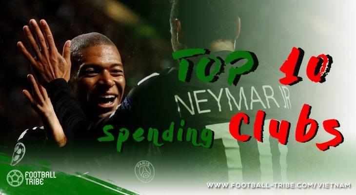 TOP 10 câu lạc bộ chịu chi nhất Thế giới