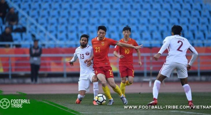 Thua Qatar, Trung Quốc bị loại ở vòng bảng U23 châu Á