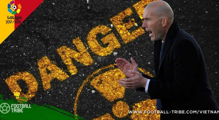 Real Madrid: Sự nguy hiểm đang cận kề Zidane