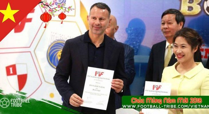 Giggs sang Việt Nam dự khán trận đấu của U15 PVF