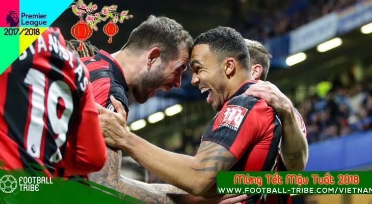 """Vòng 25 Premier League 2017/18: Bournemouth """"đại náo"""" Stamford Bridge"""