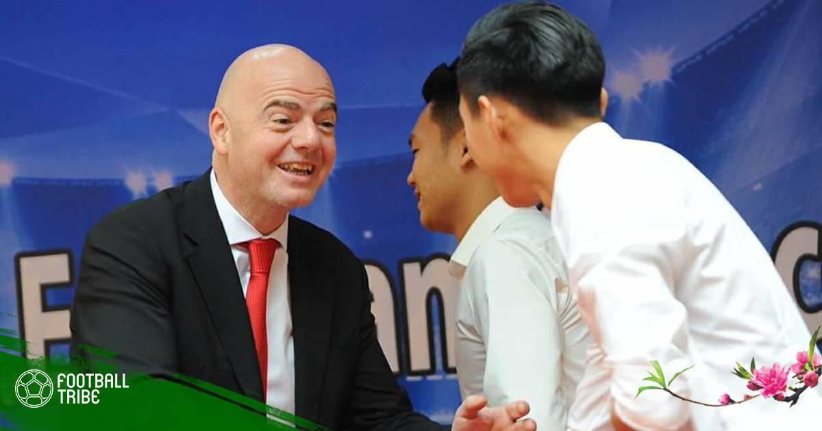 Chuyển động bóng đá Việt Nam 12/2: Chủ tịch FIFA muốn giúp Đông Nam Á đăng cai World Cup 2034