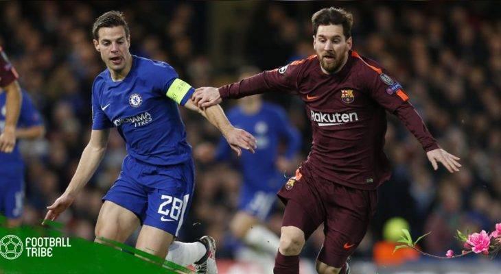 UEFA Champions League 2017/18: Messi phá dớp giúp Barcelona cầm hòa Chelsea